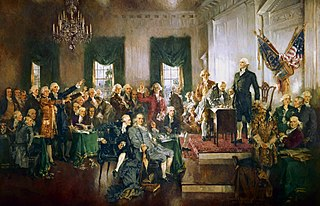 Painting of US Constitutional Convention, via Wikipedia
