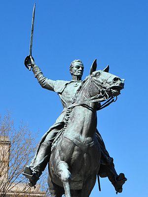 English: Statue of Simon Bolivar in Washington...