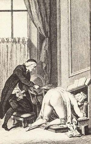 Engraving for Thérèse philosophe (libertine no...