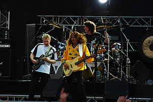 Triumph performing at Sweden Rock, 2008. Showi...