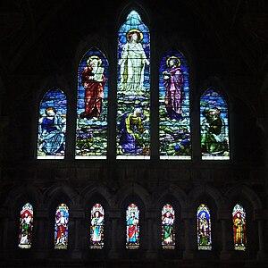 English: West Window depicting the Transfigura...