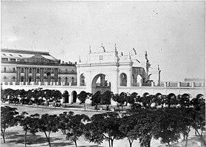 Vieja Recova ubicada en la actual Plaza de May...