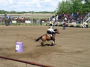 English: Rodeo in Westaskiwin, Alberta, Canada...
