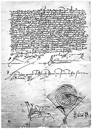 English: Copy of the Spanish edict of expulsion
