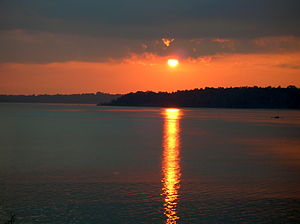 Andaman Islands at sunset
