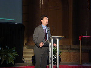 Andy Burnham at Liverpool Biennial 2008 Openin...