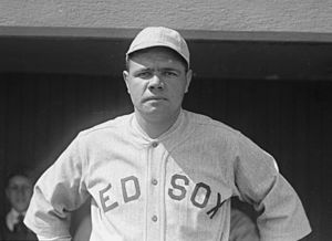 American baseball player Babe Ruth, publicity ...