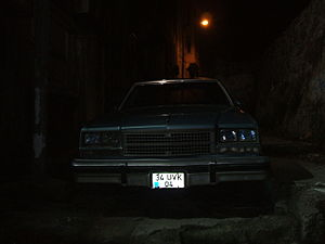 English: Buick Electra in a dark alley in Istanbul