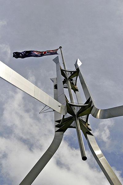 Flagpole ontop of parliament house02.jpg