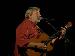 Francesco Guccini on stage