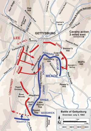 English: map of Gettysburg battle 3/3 Category...