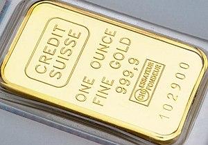 One ounce gold bar.