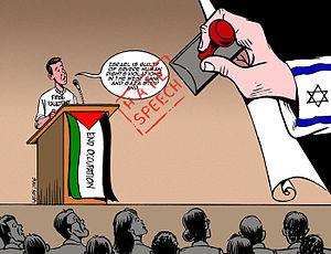 """""""Hate speech"""" by Carlos Latuff."""