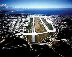 Aearial view of Kadena Air Base on Okinawa