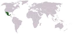 Lokasi Meksiko