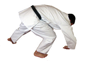 Deutsch: Mae maware Ukemi, Vorwärtsrolle Judo