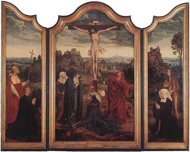 Matsys Christ on the Cross with Donors