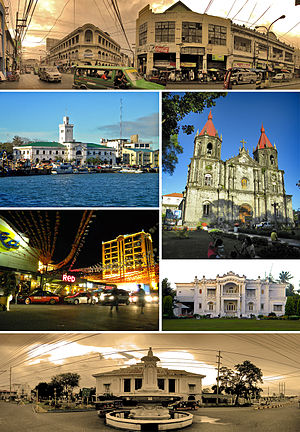 From top, left to right: Calle Real - Iloilo C...