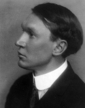 American poet Nicholas Vachel Lindsay (1879-1931)