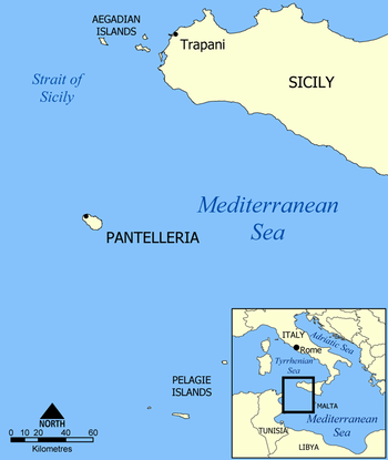 Location of Pantelleria