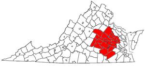 Locator map of the Richmond Metropolitan Stati...
