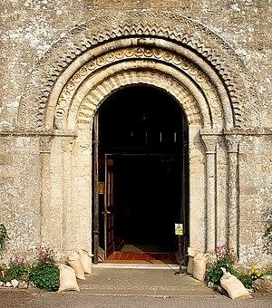 Romanesque West Door, St. Mary's, Portchester ...