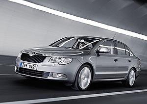 A Škoda Superb II car. Français : Une automobi...