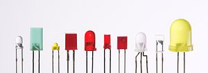 English: LEDs in different casings. Deutsch: L...