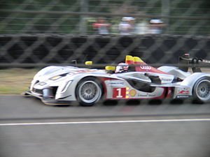 The #1 Audi Sport Team Joest Audi R15 TDI appr...