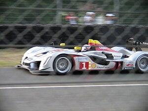 The #1 Audi Sport Team Joest Audi R15 TDI appr...