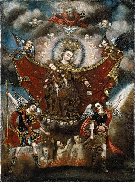 File:Brooklyn Museum - Virgin of Carmel Saving Souls in Purgatory - Circle of Diego Quispe Tito - overall.jpg