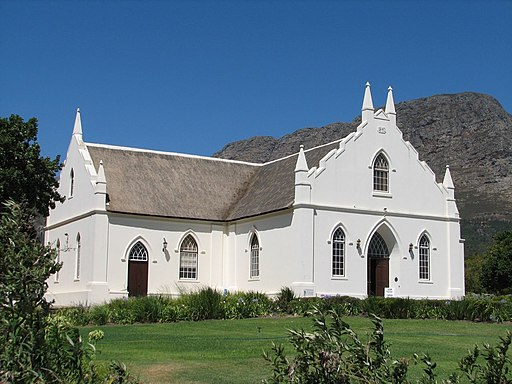 Dutch Reformed Church, Franschhoek, South Africa