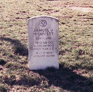 Grave of Samuel Dashiell Hammett, author of Th...