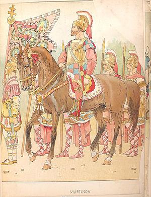 Byzantium warriors. Drawing from Vinkhuijzen C...