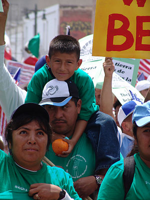 Immigrant rights march for amnesty in downtown...