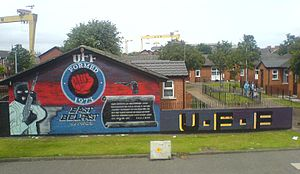 UFF mural on Newtownards Road, East Belfast