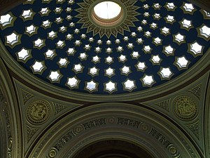 Ceiling of the Royal Bank of Scotland banking ...