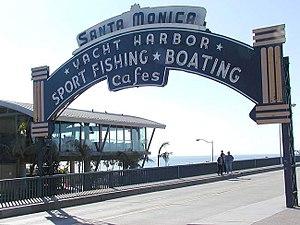 """The """"Santa Monica Harbor"""" neon sign ..."""