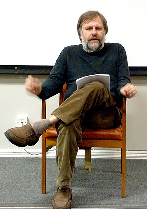 Slavoj Zizek in Liverpool, cropped version of ...
