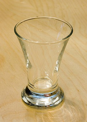 "An IKEA ""Test"" shot glass"