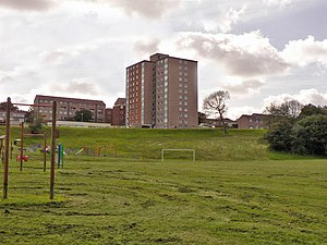 English: Tower block, Honicknowle, Plymouth Am...