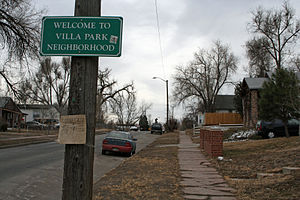 The Villa Park Neighborhood of Denver, Colorado.