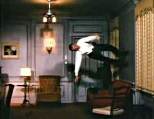 Fred Astaire dancing on the walls and ceiling ...
