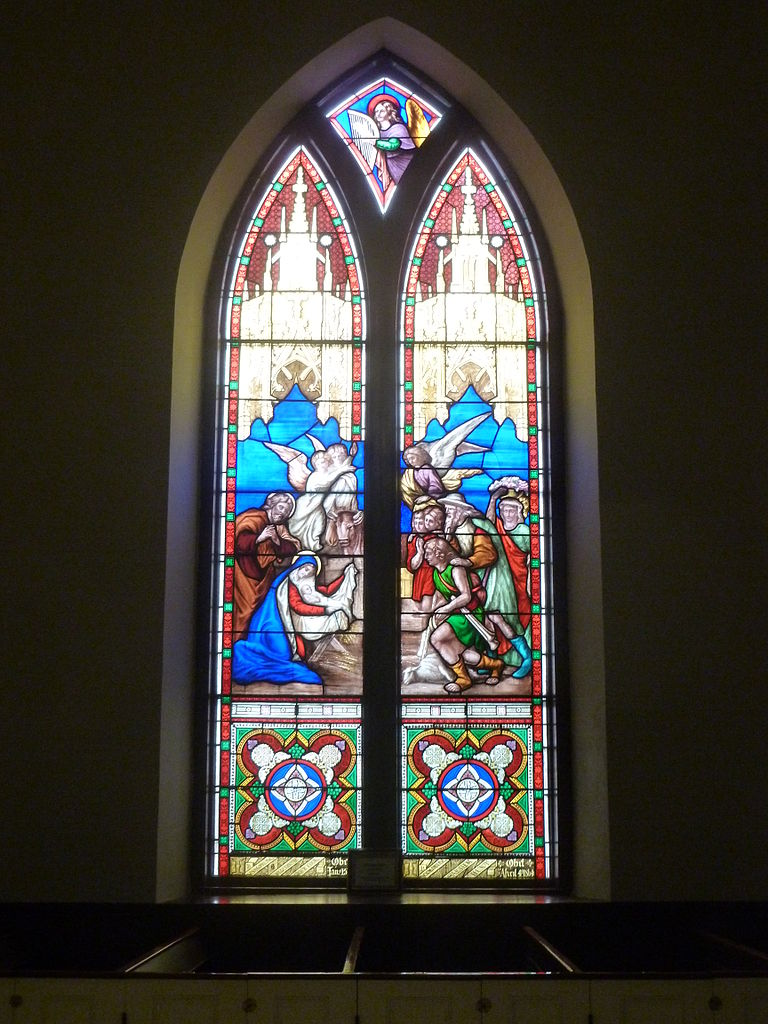 File Birth Of Christ Stained Glass Window At Saint Anne S