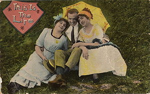 "Postcard ""This Is The Life"", showing..."
