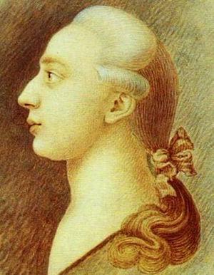 Portrait of Giacomo Casanova made (about 1750-...
