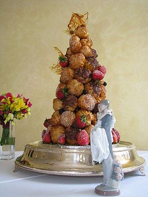Croquembouch wedding cake