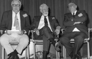 English: This 1992 photograph shows three form...