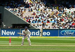 Rahul Dravid batting for India - India v Austr...