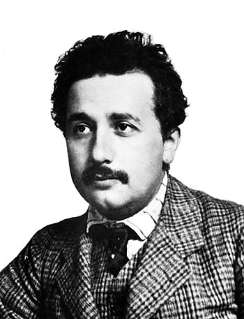 English: German-born theoretical physicist Alb...